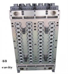 Multi cavities preform injection mould